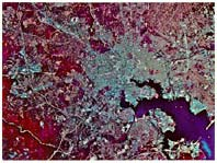 Infrared images, infrared photos of US cities, infrared photos of earth, Infrared photo of BaltimoreBaltimore